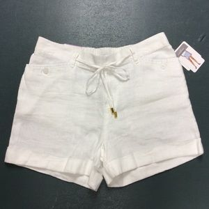 Ellen Tracy Shorts - Company Ellen Tracy White Linen Shorts